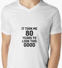 f5c6d58ac 80th Birthday 80 Year Old Anniversary Bday Funny Gift Idea Men's V-Neck T-