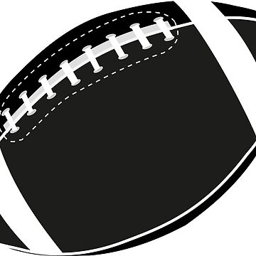 American football ball seamless pattern by Danler