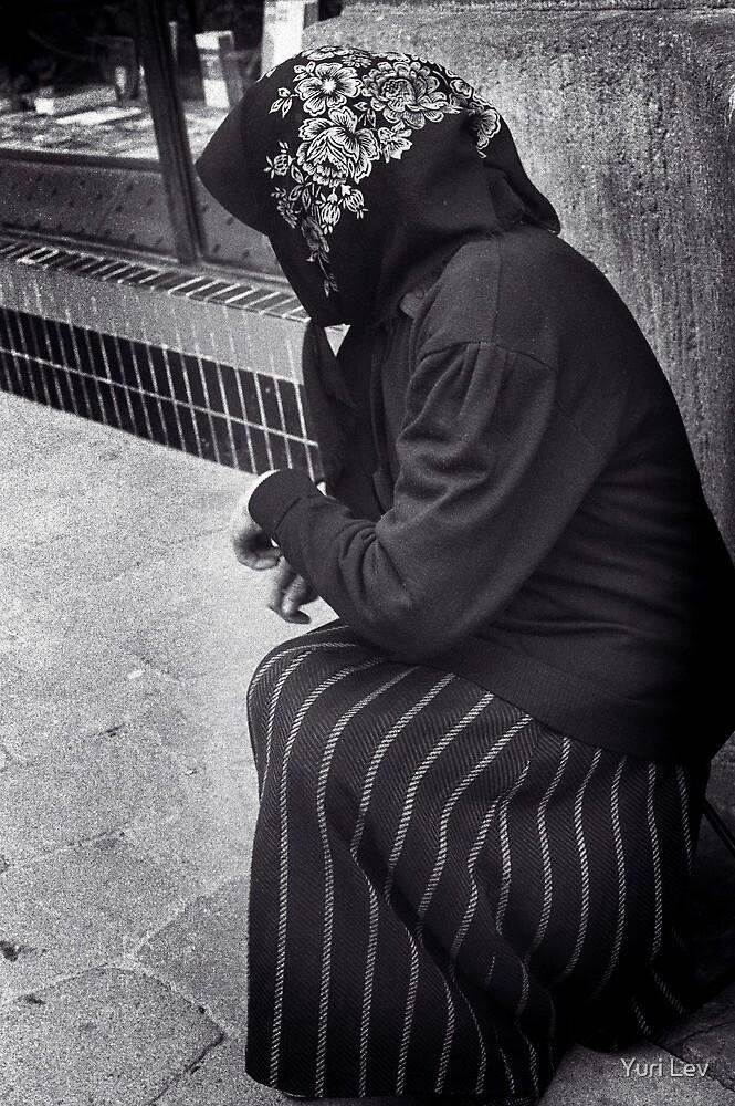Beggar in Lviv, Ukraine by Yuri Lev