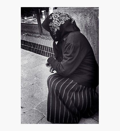Beggar in Lviv, Ukraine Photographic Print
