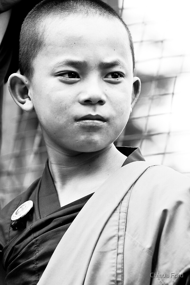 Boy Monk Proud - Tibetan Faces by Chinua Ford