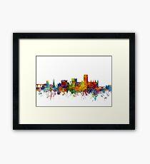 Durham England Skyline Cityscape Framed Print