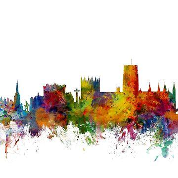Durham England Skyline Cityscape by ArtPrints
