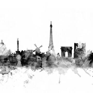 Paris France Skyline by ArtPrints
