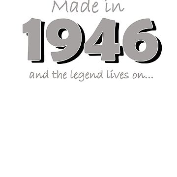 Made in 1946 and the legend lives on by Faba188