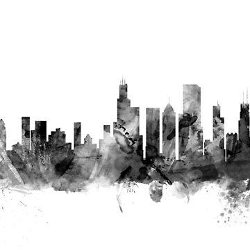 Chicago Illinois Skyline by ArtPrints