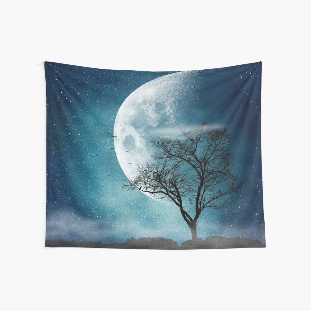 Moon Blues Wall Tapestry