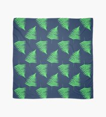 Navy and Lime Fern Pattern Scarf
