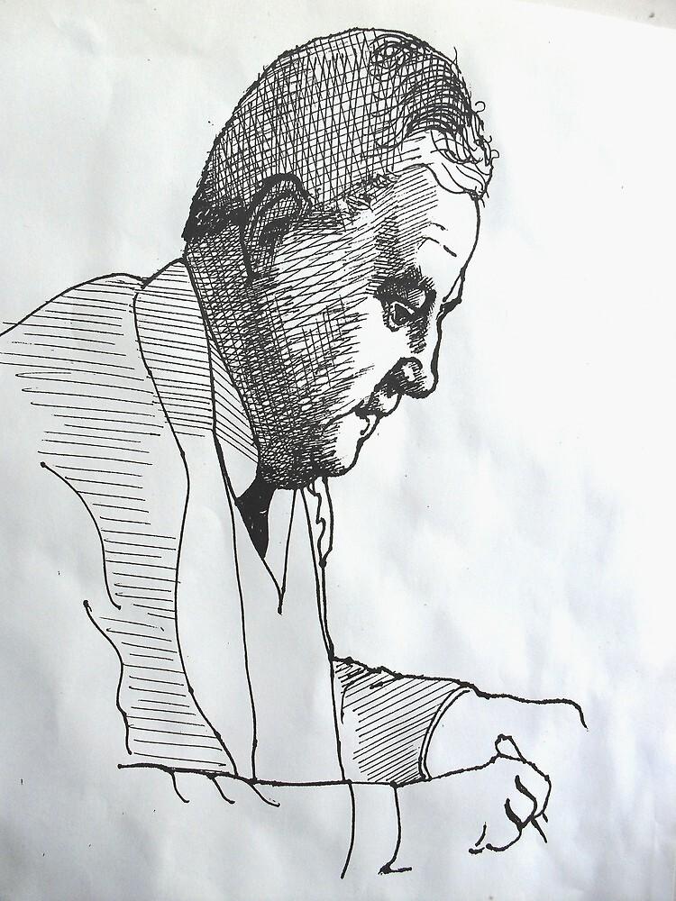 Portrait Study 30. by Richard  Tuvey