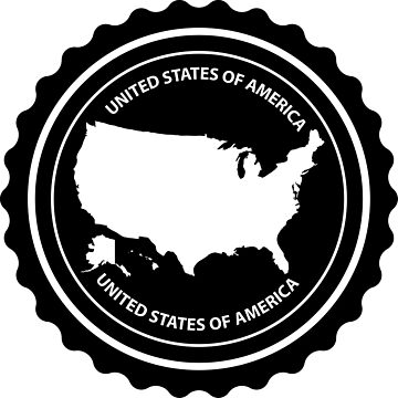 USA rubber stamp by Danler