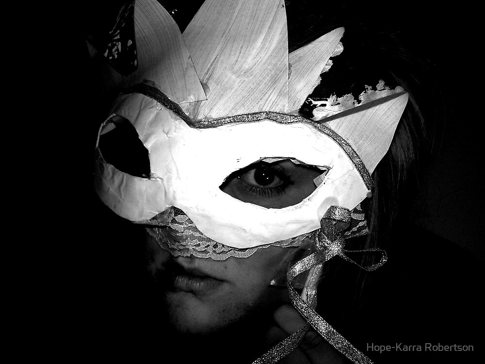 Paper Faces On Display, Masquerade. by Hope-Karra Robertson