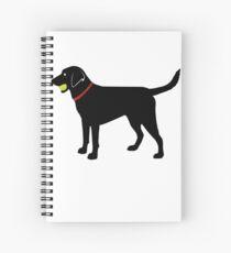 Labrador Retriever Fetch, Black Lab Play Ball Spiral Notebook