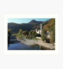 Medieval Town Among the Mountains Art Print