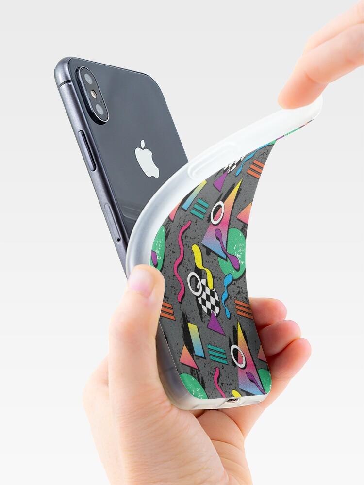 Alternative Ansicht von 90er Jahre Muster iPhone-Hülle & Cover