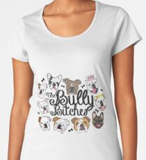 Camiseta premium de cuello ancho Las perras bully