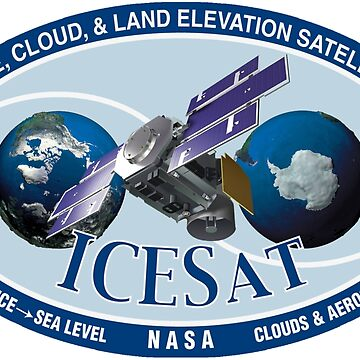 ICESat (Ice, Cloud, and land Elevation Satellite) Program Logo by Spacestuffplus