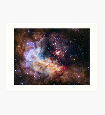 Hubble's 25th Birthday Gift to Us! Art Print