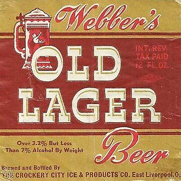 Webber Old Larger Beer label by thatstickerguy
