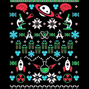 Science Ugly Christmas Sweater by KsuAnn