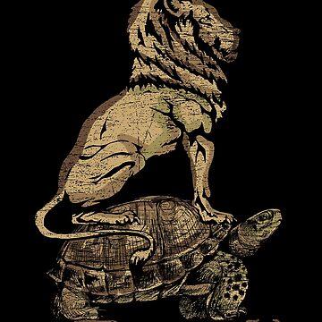 Lion turtle by GeschenkIdee