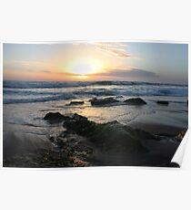 St Andrews Beach - Sunset Poster