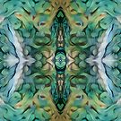 Green Owl Feathers by Sheila Asato