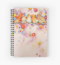 Bubbly conversations Spiral Notebook