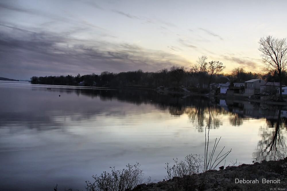 Evening Light On Lake Champlain by Deborah  Benoit