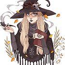 Autumn witch by Helenamischenko