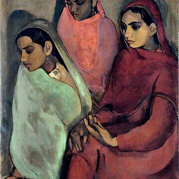 Amrita Sher-Gil painting: Three Girls by virginia50