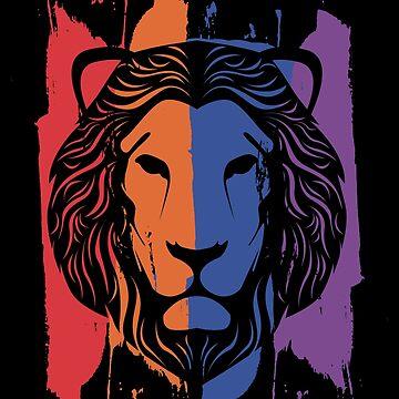 Lion cat by GeschenkIdee