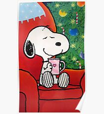 snoopy holiday christmas Poster