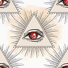 All Seeing Evil Eye Geometric Pattern by Patterns Galore