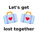 Let's Get Lost Together Suitcases Light-Color by TinyStarAmerica