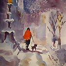 Walking The Dog - Art Gallery 4 by Ballet Dance-Artist