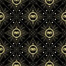 All Seeing Eye Sacred Geometry Pattern by Patterns Galore