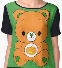 Pumpkin Bear Chiffon Top
