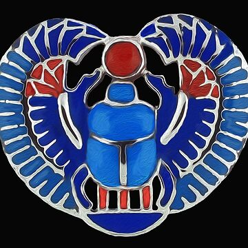 Egyptian Blue Scarab by Skyviper