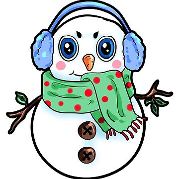 Happy Snowman Christmas Present Winter gift by Moonpie90