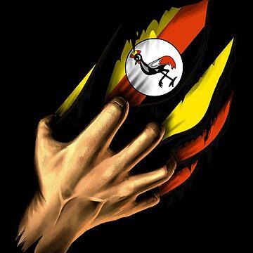 Ugandan in Me Uganda Flag DNA Heritage Roots Gift  by nikolayjs