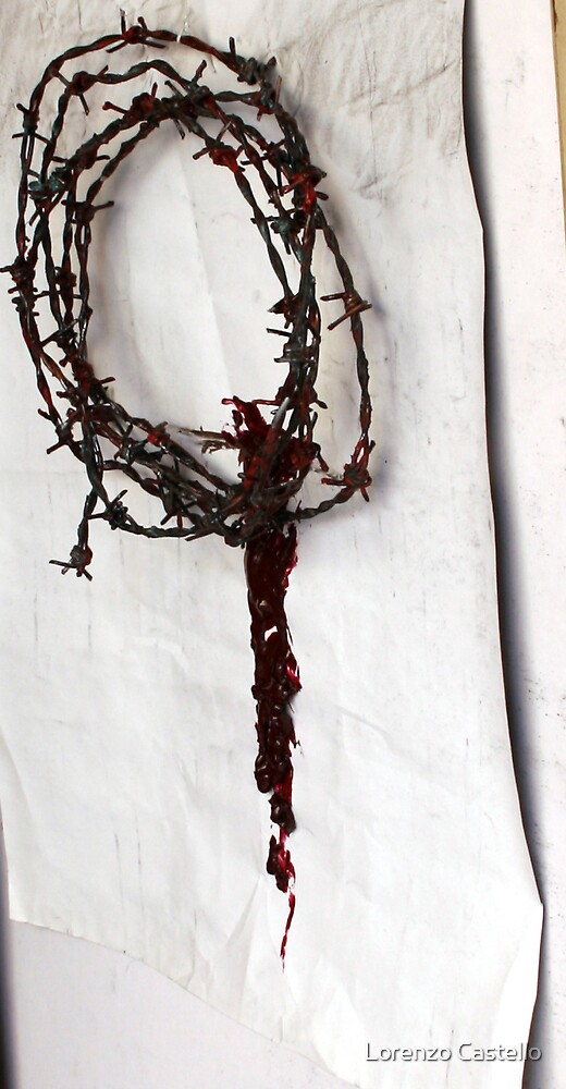 Wreath of barbed wire by Lorenzo Castello
