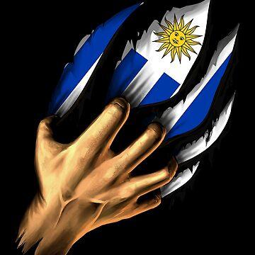 Uruguayan in Me Uruguay Flag DNA Heritage Roots Gift  by nikolayjs
