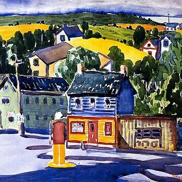 George Luks painting, Gas Station by virginia50
