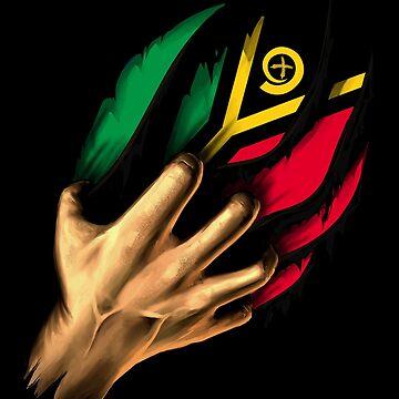 Ni-Vanuatu in Me Vanuatu Flag DNA Heritage Roots Gift  by nikolayjs