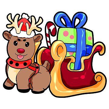Santa Slide Christmas Reindeer gift present by Moonpie90