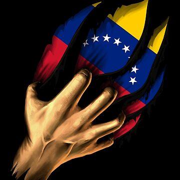 Venezuelan in Me Venezuela Flag DNA Heritage Roots Gift  by nikolayjs