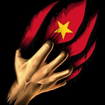 Vietnamese in Me Vietnam Flag DNA Heritage Roots Gift  by nikolayjs
