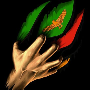 Zambian in Me Zambia Flag DNA Heritage Roots Gift  by nikolayjs