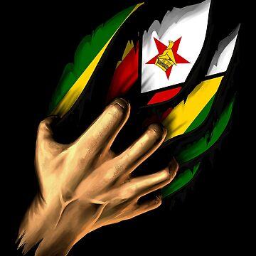 Zimbabwean in Me Zimbabwe Flag DNA Heritage Roots Gift  by nikolayjs