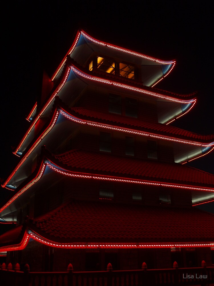 Reading Pagoda, By Night! by Lisa Brower